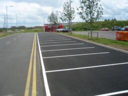 Line Marking Carpark- Ibbco Civil Engineering Ltd