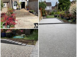 Resin Garden Patio Before and After- Ibbco Civil Engineering Ltd