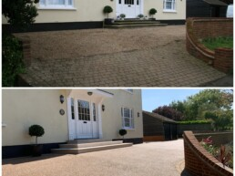 Resin Driveway Before and After- Ibbco Civil Engineering Ltd