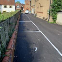 Loughton Men's Club Car Park Lines- Ibbco Civil Engineering Ltd
