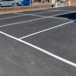 Loughton Men's Club Car Park Line Marking- Ibbco Civil Engineering Ltd