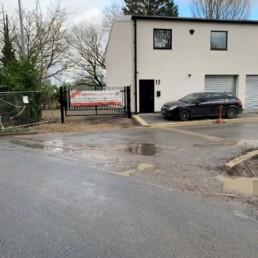 Woodside Industrial Estate Entrance Before- Ibbco Civil Engineering Ltd