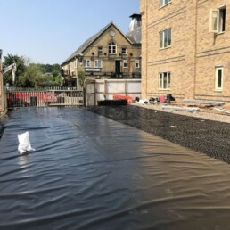 Weston House Drainage Crates Being Covered- Ibbco Civil Engineering Ltd