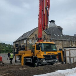 Weston House Concrete Pouring Lorry- Ibbco Civil Engineering Ltd